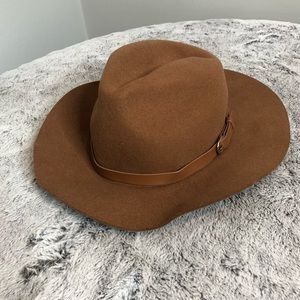 NWOT H&M Brown Wool Belted Hat Size S